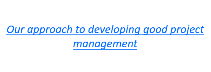 Hyperlink to our approach to project management